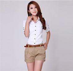 Blusa blanca mujer camisas blusas chemise femme mujeres camisetas tallas grandes blusas de renda camisas feminina roupas femininas Z502 en Blusas y Camisas de Moda y Complementos Mujer en AliExpress.com | Alibaba Group