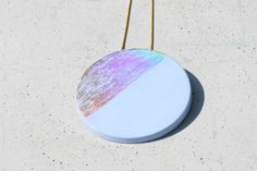 #concrete #pendant #holographic Holographic, Concrete, Pendant, Jewelry, Jewlery, Jewerly, Hang Tags, Schmuck, Pendants