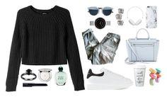 """casual look"" by whykristina ❤ liked on Polyvore featuring Golden Goose, Alexander McQueen, Christian Dior, Monki, Rebecca Minkoff, Molami, MANGO, Skagen, Giorgio Armani and Guerlain"