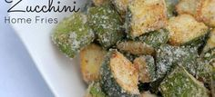 Baked Zucchini Home Fries | noGuilt Nutrition ~Tag someone you'd share this with~