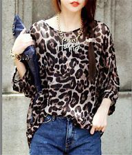Korea Fashion Leopard Print Chiffon Top club summer women casual Brief