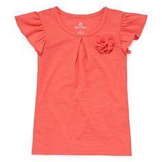 Okie Dokie® Short-Sleeve Flower Tee - Toddler Girls 2t-5t - JCPenney