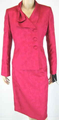 Gorgeous Cherry Red New with tags skirt suit.  Check it out at #www.justfashionsboutique.com