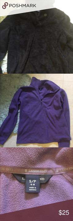 2 lands end sweatshirts Super cute and comfy very warm sweatshirts black looks brand new the purple is in good condition Lands' End Sweaters Crew & Scoop Necks