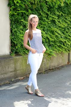 casual white and striped with @topshop @riverisland | by Fabes Fashion - A Los…