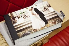 Christine and Neil's Queensberry wedding album | Corin Bishop Photography | Queensberry Overlay Album with Photofront Cover - www.queensberry.com/products
