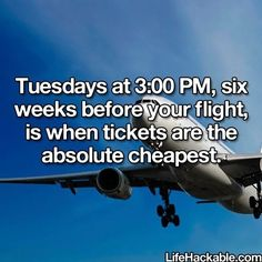 The Best Time To Get The Cheapest Price On Plane Tickets