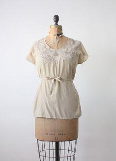 vintage silk lace blouse