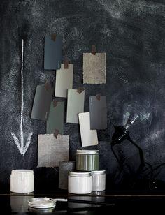 Daniellawitte color scheme, mood board, grey and black, vogue furniture, 2015 home decor trends | Find more inspiration ideas http://www.brabbu.com/en/inspiration.php