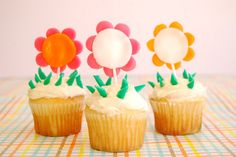 Or cut up a few Airheads and turn them into an edible garden. | 27 Ridiculously Creative Ways To Decorate Cupcakes