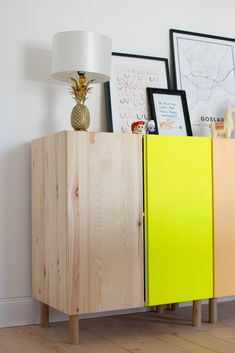 Ivar Dresser from Ikea in DIY- Ivar Kommode von Ikea im DIY Ivar chest of drawers from Ikea in DIY Office Storage Furniture, Ikea Furniture, Upcycled Furniture, Ikea Ivar Hack, Baby Zimmer Ikea, Ivar Regal, Baby Room Storage, Ikea Makeover, Wooden Cupboard