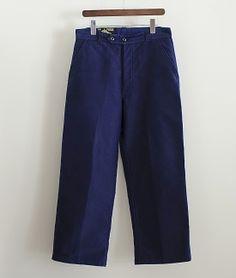 LILY1ST VINTAGE 1940-1950'S FRENCH MOLESKIN WORK PANTS http://floraison.shop-pro.jp/?pid=76026436