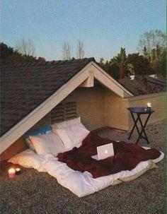 Balcony romantic set up