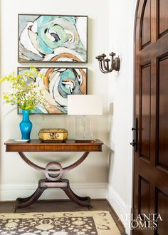 Entry & Stair Halls | Design by Liz Williams, Liz Williams Interiors // Photographed by Erica George Dines | Atlanta Homes & Lifestyles