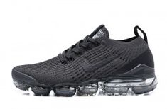 Cheap Nike Air VaporMax Flyknit Dark Blue/Red Running Shoes, The Nike VaporMax is a new running shoe from Nike. It features sock-like Plyknit uppers and a brand new Air Max sole. Nike calls it the lightest Air Max sneaker. Pink Running Shoes, Running Shoes For Men, Running Women, Nike Running, Running Sports, Air Max Sneakers, All Black Sneakers, Sneakers Nike, Sneakers Women