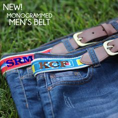 Monogrammed Men's Belt from Marleylilly.com #FathersDay