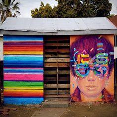 Splendid work by @samrodriguezart #globalstreetart #portrait #face #streetart #mural #usa http://globalstreetart.com/samrodriguezart