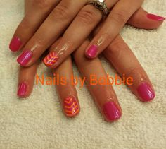 Shellac with nail art.