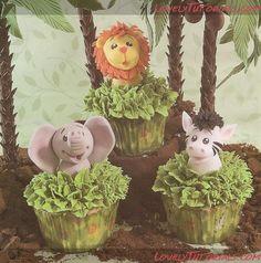 Jungle Animal Cupcakes tutorials
