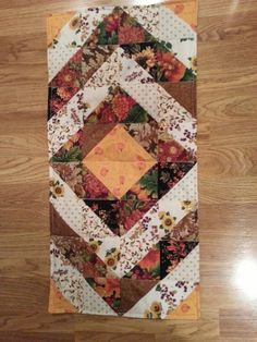 Fall diamond quilted table runner