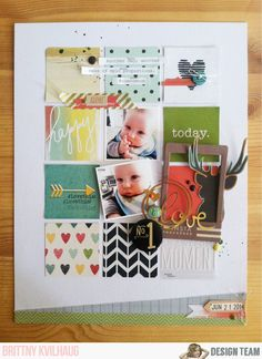 No. 1 Love **Noel Mignon Sweet & Simple Kit** - Scrapbook.com. For an 8.5x11 grid use squares in 3x4 rows and tilt some for a whimsical look.