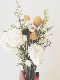 Spring Sola Bridesmaid Bouquet. $24.00, via Etsy.