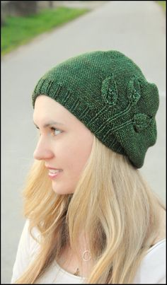 "My new pattern, ""Seedling"" is now available for purchase. This slouchy, beanie-style hat features fledgling plants sprouting up..."