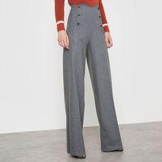 bce7f517f3bf Pantalon à pont CORALIE MARABELLE X LA REDOUTE MADAME Pantalon À Pont, Mode  Femme,