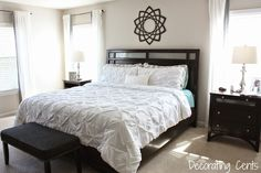 Decorating Cents: White Pintuck Bedding