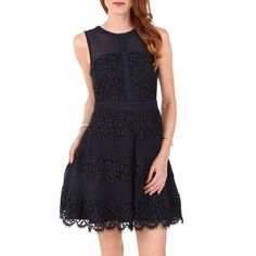 Adelyn Rae Women's Contemporary Lace Paneled Dress
