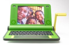 A prototype of a cheap and robust laptop for young people. It will cost $100 with the aim of nrrowing the Information Technology gap between poorer developing countries and well-off information-rich people.