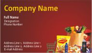 Grocery shop visiting cards design online at printasia, printasia.in has an excellent offer is Get 120 premium business cards 99/- only.