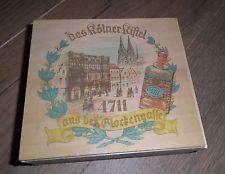 alte Holzschachtel Werbung 4711 Kölnisch Wasser