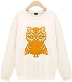 Sweatshirt Women Fashion Casual Owl Animal Print Beading Hoodies t. shirt price, review and buy in UAE, Dubai, Abu Dhabi | Souq.com