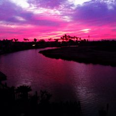 Sunset in Newport Shores.