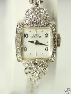 Lady Hamilton Vintage Antique Diamond Watch 14k Gold... I.  Am.  In.  Love.