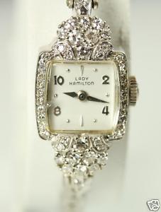 Lady Hamilton Vintage Antique Diamond Watch 14k Gold... I.  Am.  In.  Love.
