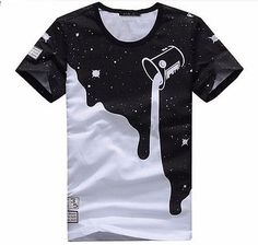 MEN SUMMER TEEN NEW COTTON T SHIRT SHORT SLEEVE T SHIRT FOR MEN BOYS TEENS PRINT