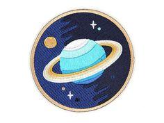 Galaxy-Planet-Eisen auf Patch gestickt Patch von rabbitandtheduck