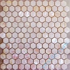 Hexagon pink mother of pearl mosaic tiles