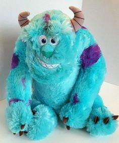 "Disney Pixar Monsters Inc Sulley Plush Stuffed Animal Large 26"" Aqua Blue Purple…"