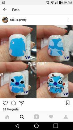 Disney Inspired Nails, Disney Nails, Im So Fancy, Nail Art Diy, Lilo And Stitch, Nail Inspo, Cute Nails, Pedicure, Nail Art Designs