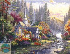 Candamar / Thomas Kinkade - The Forest Chapel - Cross Stitch World