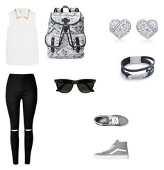 """Sin título #62"" by kayli-441 ❤ liked on Polyvore featuring Miu Miu, Vans, Candie's and Ray-Ban"