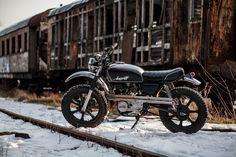 Yamaha XS 400 Angrier, scrambler built by Pilgrim Motorcycles from Krakow, Poland.  #custom #scrambler #Angriff #bike #motorcycle #custommotorcycle #custombike #garage #pilgrim #motorcycles #garagelife #vintage #oldschool #caferacer #bratstyle #hardwork #handmade #customparts #rawsteel
