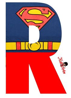 Superman Party Decorations, Spiderman Theme Party, Superman Birthday Party, 2nd Birthday Party Themes, Superhero Party, Superman Love, Batman Vs Superman, Letter Standee, Superhero Letters