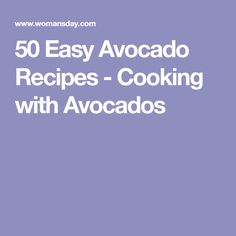 50 Easy Avocado Recipes - Cooking with Avocados Avocado Mac And Cheese, Creamy Avocado Sauce, Skirt Steak, Avocado Recipes, How To Make Salad, Easy Salads, Stuffed Hot Peppers