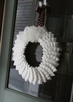 about Wreaths on Pinterest   Ribbon wreaths, Coffee filter wreath ...
