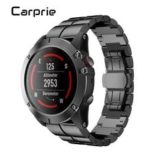 High quality Hot Sale Genuine Stainless Steel Bracelet Quick Release Fit Band Strap For Garmin Fenix GPS Watch Smart Watch Shop, Stainless Steel Bracelet, Watch Bands, Bracelets, Stuff To Buy, Shopping, Smartwatch, Cucumber, Consumer Electronics