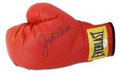 Jake LaMotta Signed/Autographed Red Everlast (Yellow Label) Boxing Glove JSA